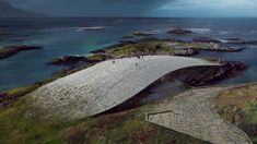 The Danish architecture studio is the winner of the competition for New Arctic whale watching attraction. The Whale is a cultural building that aims to increase the understanding of these animals and preserve the marine life. Win Competitions, Design Competitions, Underwater Restaurant, Parque Natural, Berenice Abbott, Unusual Buildings, Rocky Shore, Arctic Circle, Exhibition Space