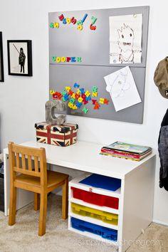 boys industrialstar wars bedroom makeover reveal - Boys Desk Ideas