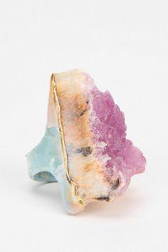 Adina Mills Pink Fluorite Ring
