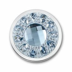 Large Vivo Ice Blue Swarovski Coin