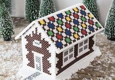 DIY - A house made of pearls - DIY gingerbread house of beads You are in the right place about disney crafts Here we offer you the - Hama Beads Design, Hama Beads Patterns, Beading Patterns, Jewelry Patterns, Embroidery Patterns, Pokemon Perler Beads, 3d Perler Bead, Owl Perler, Christmas Perler Beads