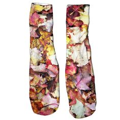 Fall Leaves Foot Glove Socks