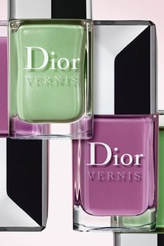 Dior nailpolish S/S 12: Waterlily and Forget me not