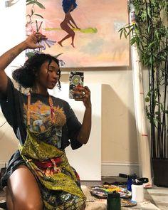 Beautiful Black Girl, Pretty Black Girls, Black Girl Art, Black Girl Fashion, Black Girl Magic, Look Fashion, Art Girl, Pretty People, Beautiful People