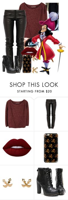 """""""Captain Hook - CASAUL"""" by blackest-raven ❤ liked on Polyvore featuring Humanoid, Preen, Lime Crime and Casetify"""