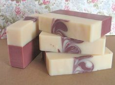 Soap Ginger Lavender Layered Soap by AuntNancysSoap on Etsy, $6.00