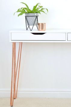 The Crazy Kitchen: Ikea Ekby Alex Hairpin Console Table Hack