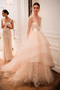 Backstage at Monique Lhuillier Bridal Spring/Summer 2016