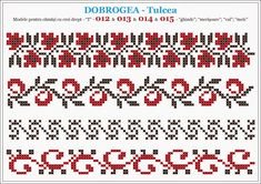 Semne Cusute: din DOBROGEA Cross Stitch Borders, Cross Stitch Flowers, Cross Stitching, Cross Stitch Patterns, Folk Embroidery, Cross Stitch Embroidery, Embroidery Patterns, Peyote Beading Patterns, Page Borders Design