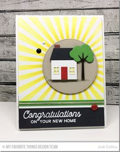 No Place Like Home Stamp Set, Home Sweet Home Die-namics, Stitched Circle STAX Die-namics - Jodi Collins  #mftstamps