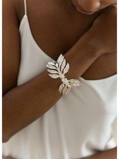 """Bracelet mariage """"Calliopée"""" esprit grèce antique avec cristaux et perles"""