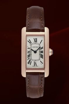 Ladies Cartier Tank Americaine Watch (small model) in 18k pink gold