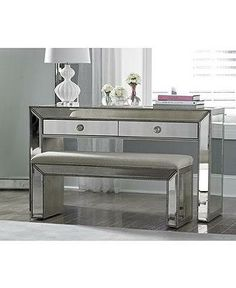 Spring 2014 Home Trend: Create a place to sit and reflect with a mirrored console and bench