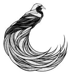 Alive by Andreas Preis, via Behance Trendy Tattoos, Girl Tattoos, Tattoos For Guys, Bird Illustration, Ink Illustrations, Mandela Drawing, Zentangle, Bird Of Paradise Tattoo, Geometric Arrow