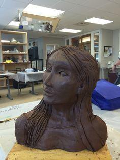 First time sculpture by Kathleen Ward Great work Kathleen!!!  Made in Highlands Sculpture Class 2016.