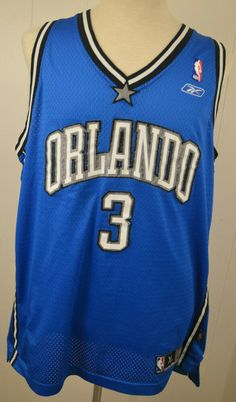 d45db4e45 Details about Reebok Men s XL Orlando Magic NBA  3 Steve Francis Blue  Basketball Jersey EUC