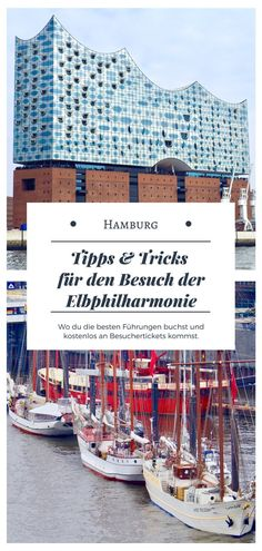 The Elphi Hamburg is the new landmark of the city. Finally, the visitor platform Elbphilharmonie is now open. The sightseeing Elbphilharmonie observation deck offers an exceptional view of Hamburg. Reisen In Europa, Hamburg Germany, The Visitors, Tour Guide, The Good Place, Travel Destinations, Places To Go, Deck, Tours