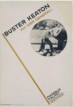 "Jan Tschichold, Buster Keaton in: ""Der General"", 1927, Offset lithograph"