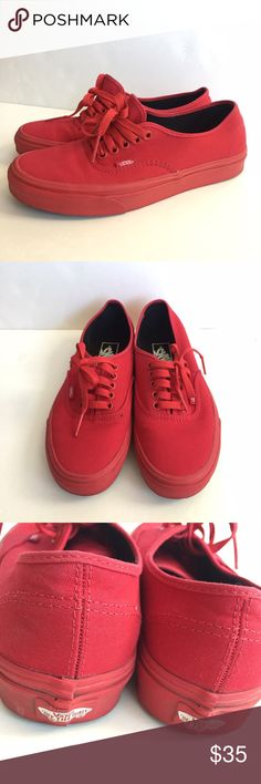 Shop Women s Vans Red size US Women Sneakers at a discounted price at  Poshmark. 077b1f2963907