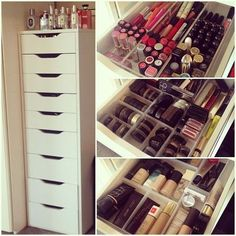 ALEX Drawer unit with 9 drawers white IKEA is part of Ikea makeup storage - IKEA ALEX, Drawer unit with 9 drawers, white, , High unit with many drawers means plenty of storage on minimum floor space Drawer stops prevent the drawer from Makeup Organizing Hacks, Ikea Makeup Storage, Makeup Drawer Organization, Organization Ideas, Makeup Organization Ikea, Furniture Storage, Make Up Storage Ikea, Ikea Makeup Drawers, Makeup Furniture
