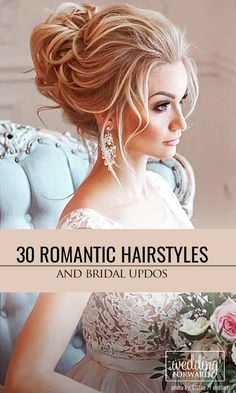 30 Most Romantic Bridal Updos & Wedding Hairstyles ❤ Whether you are looking for a long hairstyle, half up half down or bun style, we are sure to have something for you.  See more: http://www.weddingforward.com/romantic-bridal-updos-wedding-hairstyles/ #weddings #hairstyles