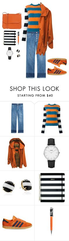"""""""Stripes"""" by rossie-rz ❤ liked on Polyvore featuring See by Chloé, MaxMara, Burberry, CLUSE, Kate Spade, adidas, Harley-Davidson, Marni and TrendyItems"""