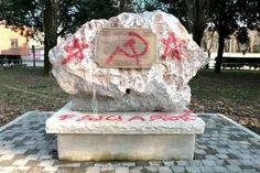 """Vandalismo di """"ignoti"""" contro il ricordo dei martiri delle foibe"""