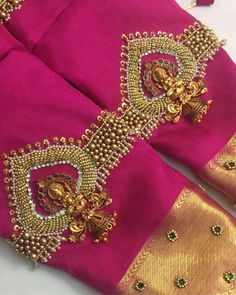 End Customization with Hand Embroidery & beautiful Zardosi Art by Expert & Experienced Artist That reflect in Blouse , Lehenga & Sarees Designer creativity that will sunshine You & your Party. Wedding Saree Blouse Designs, Fancy Blouse Designs, Blouse Neck Designs, Sleeve Designs, Wedding Blouses, Neckline Designs, Saree Wedding, Blouse Styles, Hand Work Blouse Design