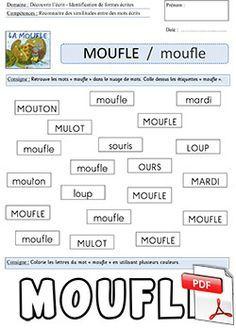 La moufle - fiche Retrouver le mot moufle