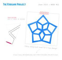 Omiyage Blogs: The Kirigami Project - Week 22 - Stars / 5 point folding pattern