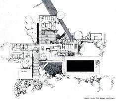 Richard Neutra Kaufmann House Floor Plan