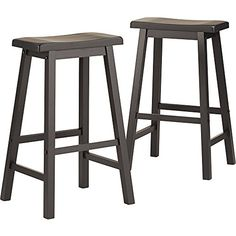 Salvador Saddle Back Bar Height Stool Counter Height 29 Inch Dining (Set Of  2