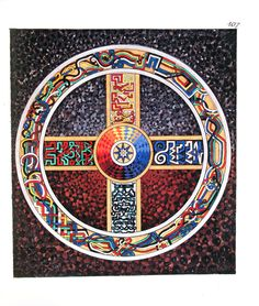 Mandala from C.G. Jung's Red Book.  I believe that the colours are particularly significant in this painting.  The Red Book gives us a whole new measure of Jung's genius.