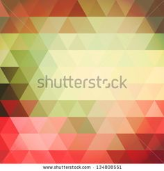 Vector pattern of colorful geometric shapes. Mosaic background with triangles. - stock vector