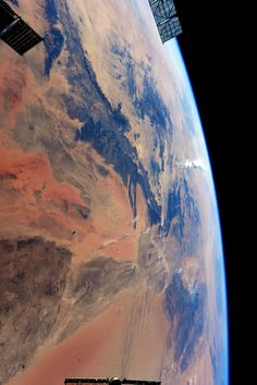 """canadian-space-agency: """"ESA Astronaut Sam Cristoforetti aboard the ISS: """"Fascinated by the almost Martian landscape as we flew over Algeria to the Mediterrean."""" December 18th 2014. Source: Sam..."""