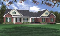 This Country House Plan includes 3 bedrooms / 3.5 baths in 2218 sq ft of living space. Its open floorplan layout is flexible and is ideal for your growing family. Best of all, its designed to be affordable to build and includes all of the most popular features you're looking for in your next home design. #houseplan #dreamhome #HPG-2218 #HousePlanGallery #houseplans #homeplans Craftsman Style House Plans, Ranch House Plans, New House Plans, 2200 Sq Ft House Plans, Southern House Plans, Country House Plans, Brick Siding, Traditional House Plans, Traditional Exterior