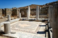 """The Rise and Fall of Delos: The """"Visible"""" Island - Greece Is Delos Greece, Mykonos Greece, Athens Greece, Santorini, Cool Places To Visit, Places To Travel, Travel Destinations, Culture Art, Cyprus"""