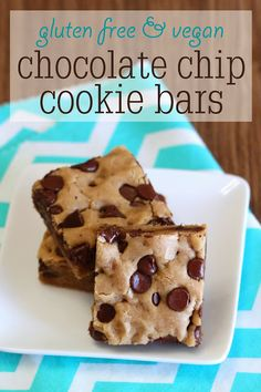 gluten free vegan chocolate chip cookie bars