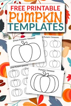 Click now to print these easy and free pumpkin templates for kids to color or to make a fun Halloween craft with! It comes with two large pumpkin templates and two small pumpkin stencils Fall Coloring Sheets, Easy Coloring Pages, Diy Crafts For Girls, Fun Diy Crafts, Kids Crafts, Painting Activities, Craft Activities For Kids, Preschool Ideas, Craft Ideas