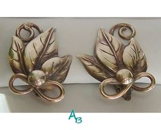 Arts and Crafts Silver Repousse Leaf Cluster by AtticBasement, $32.25