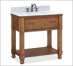 Find out how YOU can make your own beautiful bathroom vanity!