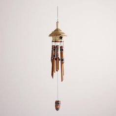 One of my favorite discoveries at WorldMarket.com: Bamboo Birdhouse Wind Chimes