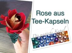 Rose aus Nestle-T-Kapseln Anleitung http://youtu.be/UrhJTkj_ut4
