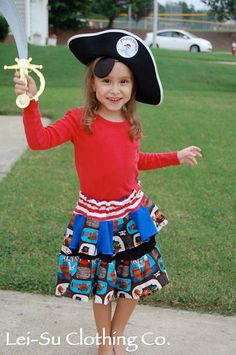 Ahoy Mate Skirt by LeiSuClothingCo on Etsy, $40.00