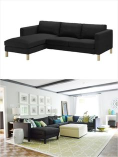 Designers Reveal Their Favorite IKEA Picks! - iVillage To buy: 'KARLSTAD' sofa and chaise, $698- $998 at ikea.com