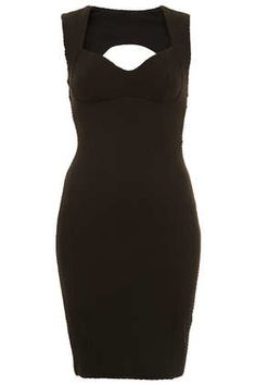 Sweetheart Bodycon Dress. Has a feminine and formal look due to its form/design and its black color.