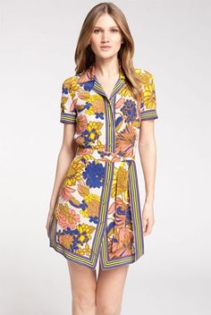 Petal Pusher: 10 Preppy Florals To Plant In Your Spring Wardrobe #refinery29  http://www.refinery29.com/preppy-floral-prints#slide-7  Trina Turk Print Silk Shirtdress, $348, available at Nordstrom....