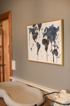 This world map print