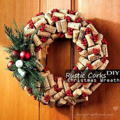 rustic-cork-christmas-wreath-easy-cool-homemade-diy-decor-kid-craft-ideas