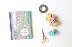 DIY sketchbook with washi tapes and etc